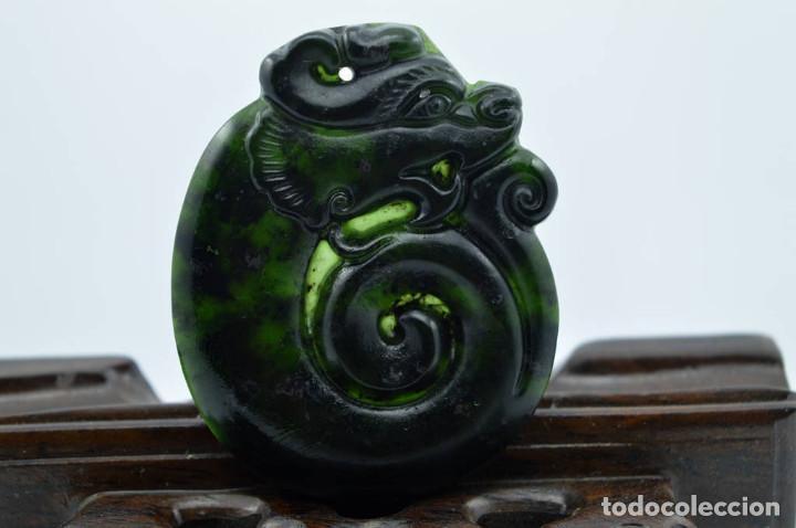 Joyeria: Colgante de jade verde natural, dragon , gran calidad - Foto 2 - 95073495