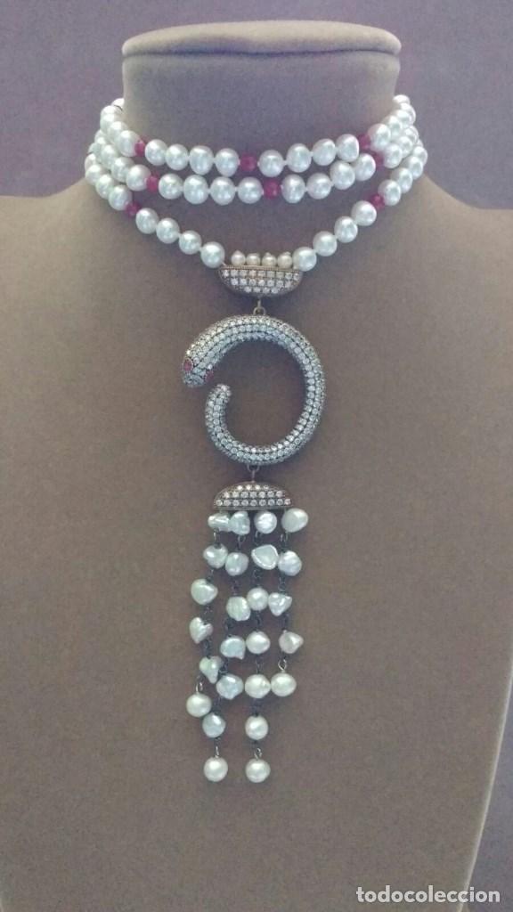 Joyeria: Collar perla con serpiente. - Foto 2 - 95362923