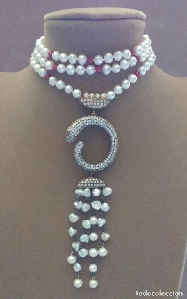 Joyeria: Collar perla con serpiente. - Foto 3 - 95362923