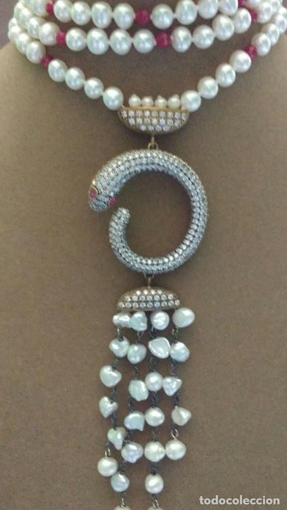 Joyeria: Collar perla con serpiente. - Foto 4 - 95362923