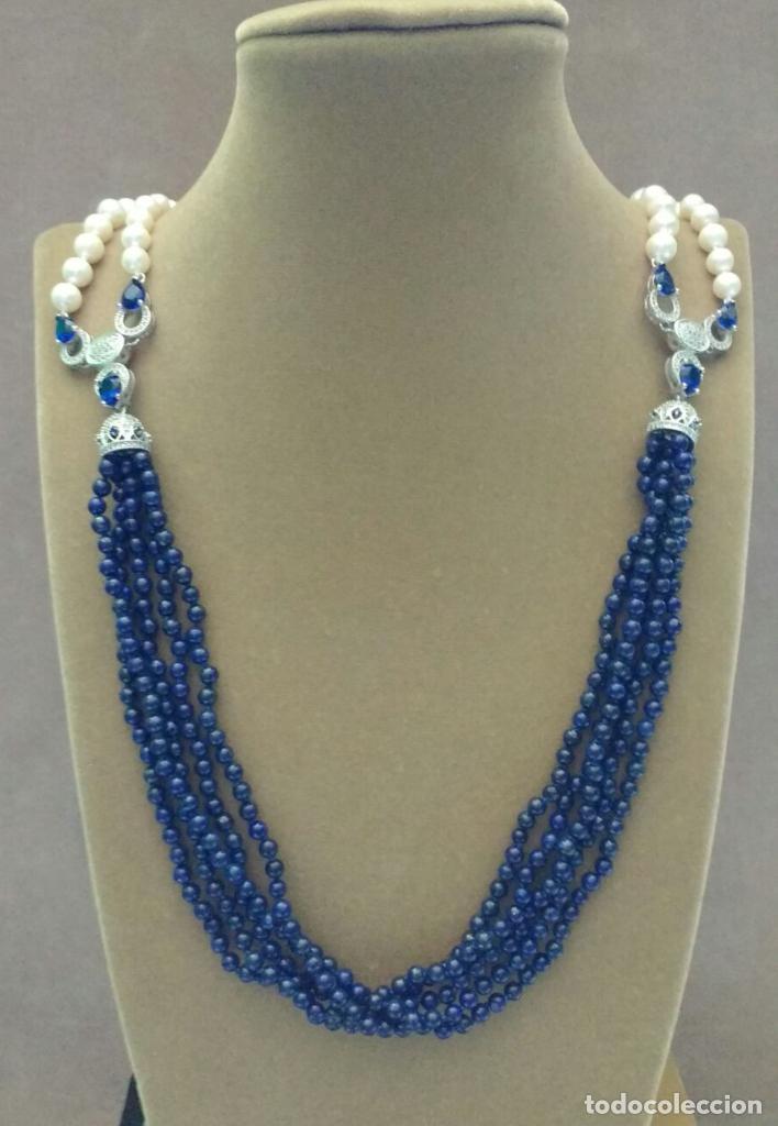 Joyeria: Collar perla y lapislàzuli. - Foto 2 - 95369447