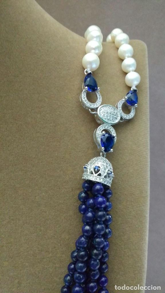 Joyeria: Collar perla y lapislàzuli. - Foto 3 - 95369447