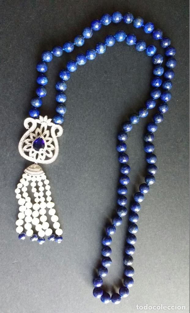 Joyeria: Collar lapislázuli y perla. - Foto 2 - 95389275