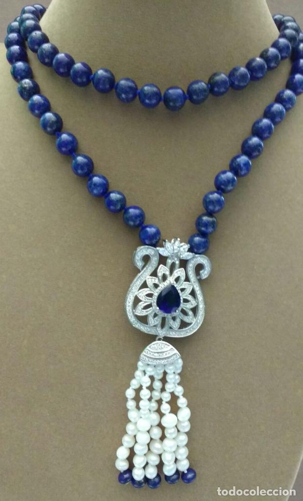 Joyeria: Collar lapislázuli y perla. - Foto 3 - 95389275