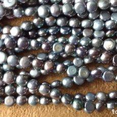 Joyeria: TIRAS DE PERLA GRISES.. Lote 95491471