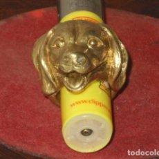 Joyeria: ANTIGUO ANILLO DE BRONCE GRANDE,CABEZA DE PERRO.. Lote 95752099