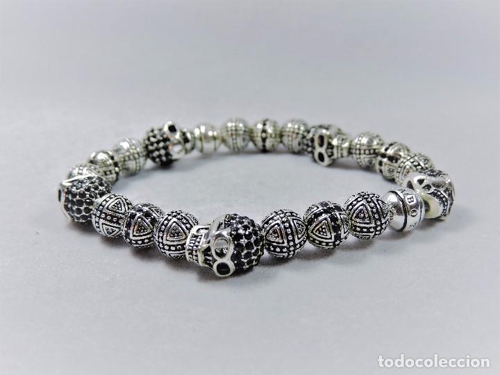 c18013088a54 Pulsera plata 925 tipo gótica con circonios neg - Vendido en Subasta ...