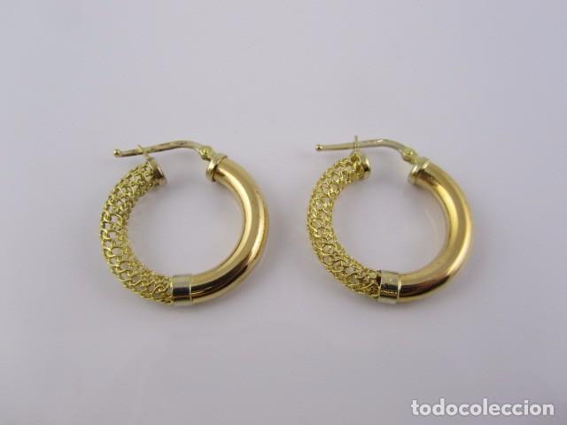 ad0d36a98446 Aretes con filigrana de oro de 18 k. peso 4.6 g - Vendido en Subasta ...