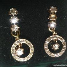Joyeria - Pendientes de Oro 18 k años 50, montado con brillantes, 8 talla 3 mm, 36 pequeños. Med. 3 cm - 97323451