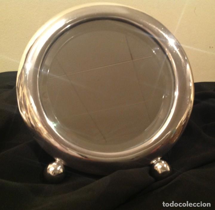 Joyeria: Antiguo Espejo De Plata Tocador Biselado Art Decó 1920 - Foto 2 - 97572251