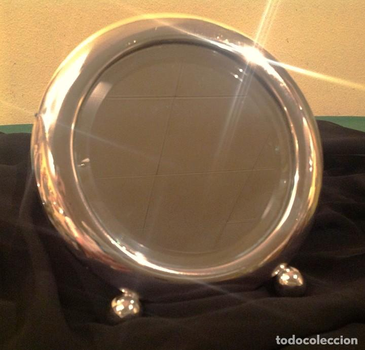 Joyeria: Antiguo Espejo De Plata Tocador Biselado Art Decó 1920 - Foto 4 - 97572251