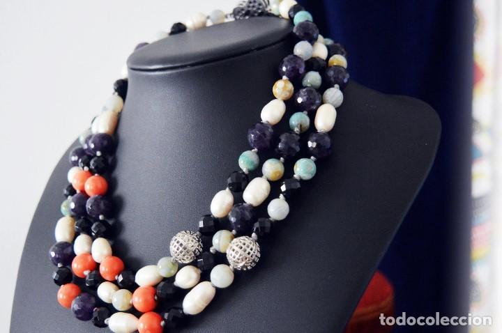 d22eb99ccb06 Exclusivo collar de 3 vueltas con gran coral 14 - Sold through ...