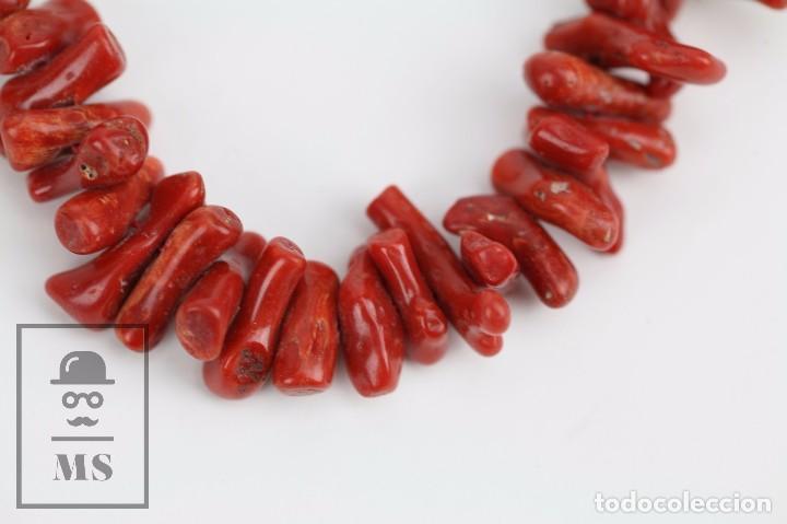 Joyeria: Collar de Coral Rojo con Cierre de Plata 925 Milésimas - Longitud 45 cm - Foto 3 - 97693503