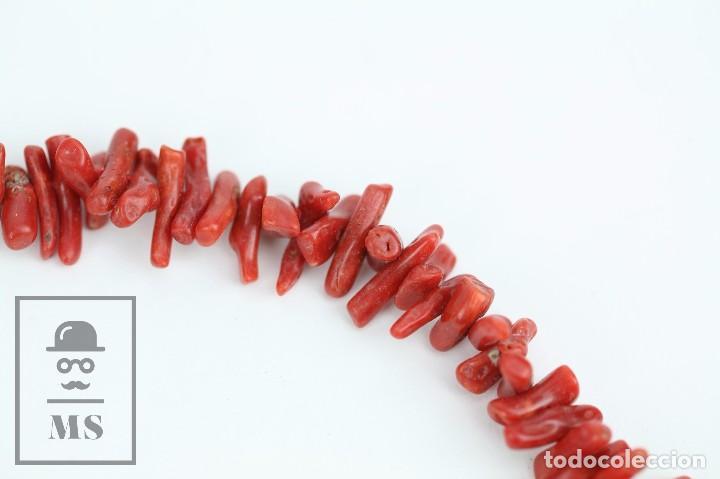 Joyeria: Collar de Coral Rojo con Cierre de Plata 925 Milésimas - Longitud 45 cm - Foto 5 - 97693503