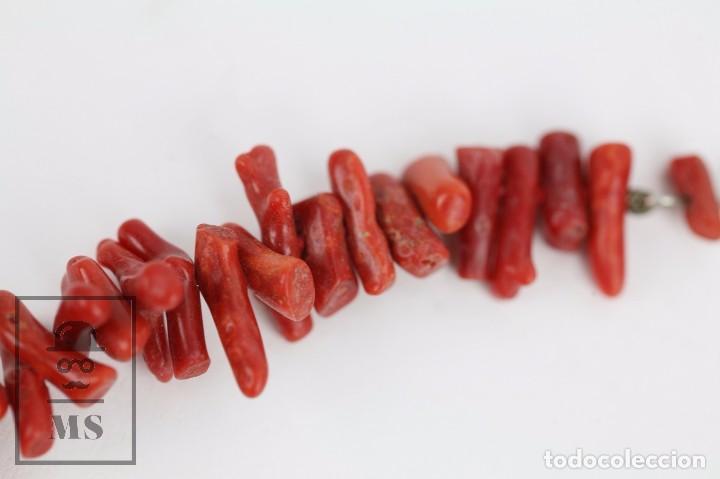 Joyeria: Collar de Coral Rojo con Cierre de Plata 925 Milésimas - Longitud 45 cm - Foto 7 - 97693503