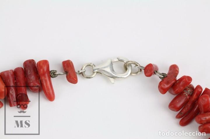 Joyeria: Collar de Coral Rojo con Cierre de Plata 925 Milésimas - Longitud 45 cm - Foto 9 - 97693503