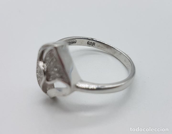 Joyeria: Bella sortija vintage en plata de ley contrastada con pavé de circonitas talla brillante . - Foto 5 - 97878363
