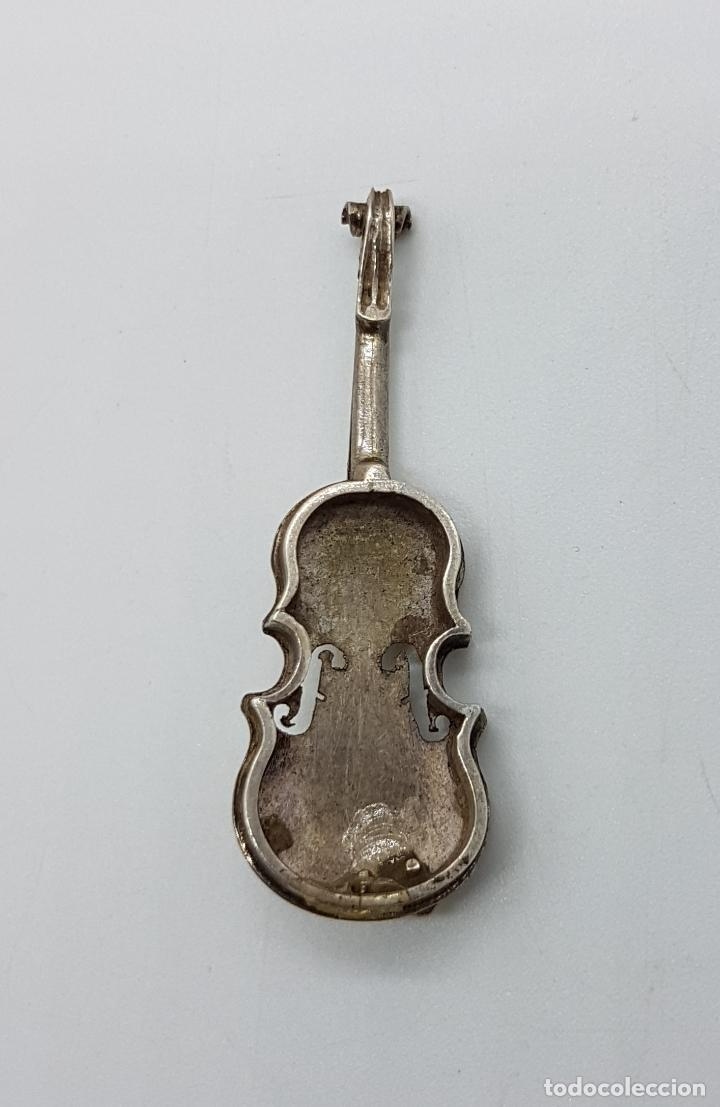 Joyeria: Violin antiguo a escala en plata de ley, hecho a mano por un artista joyero . - Foto 4 - 97883247