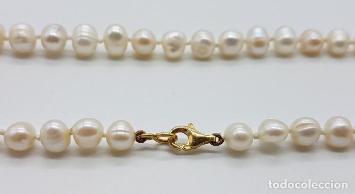 Joyeria: Elegante gargantilla vintage de perlas cultivadas autenticas con cierre de oro de 18k ( 750 ) . - Foto 7 - 97883475