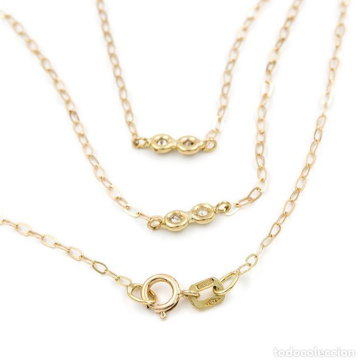 Joyeria: Collar Diamantes y Oro de Ley 18k - Foto 3 - 98543355