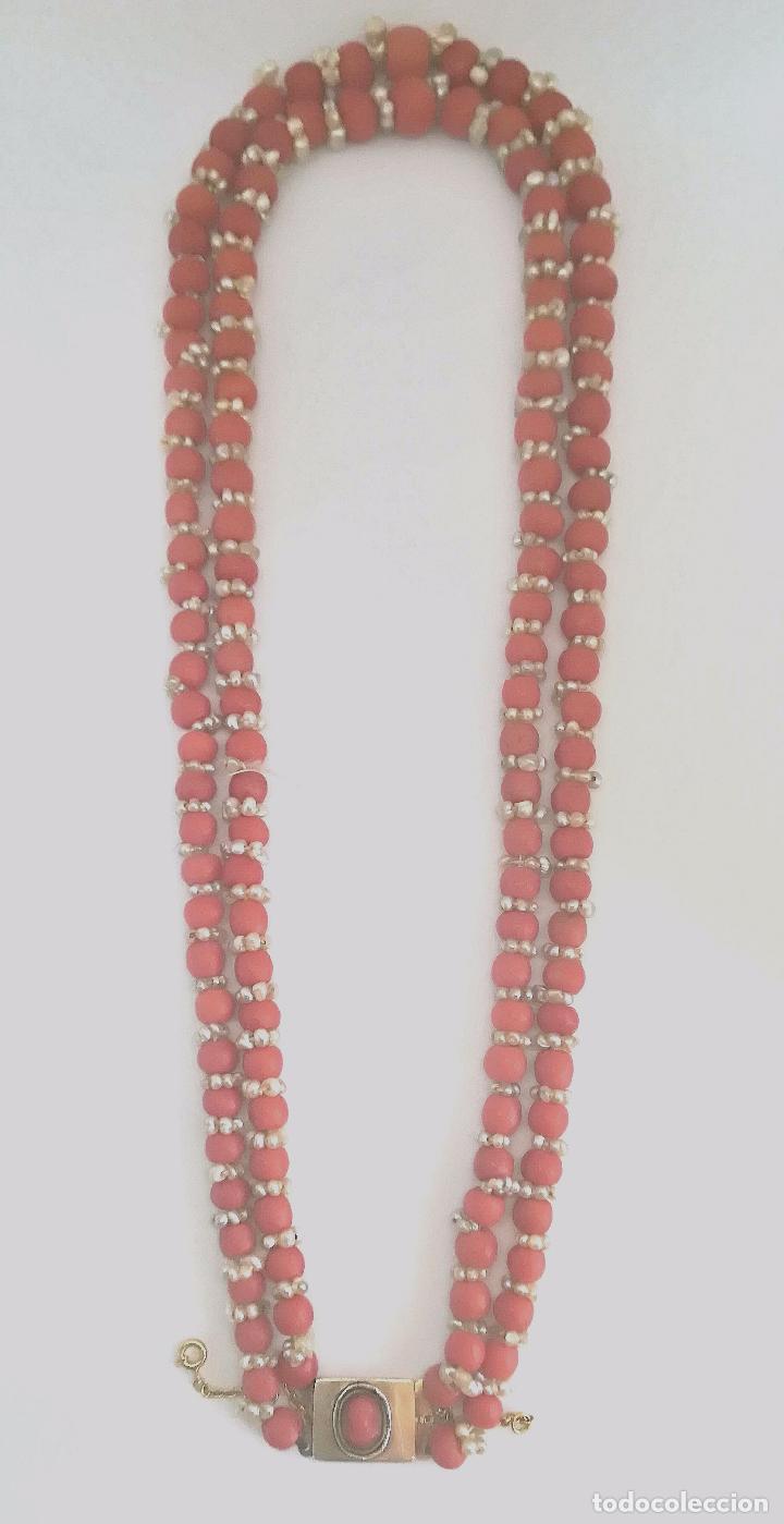 Joyeria: Antiguo collar de coral y perlas naturales - Foto 2 - 51356161