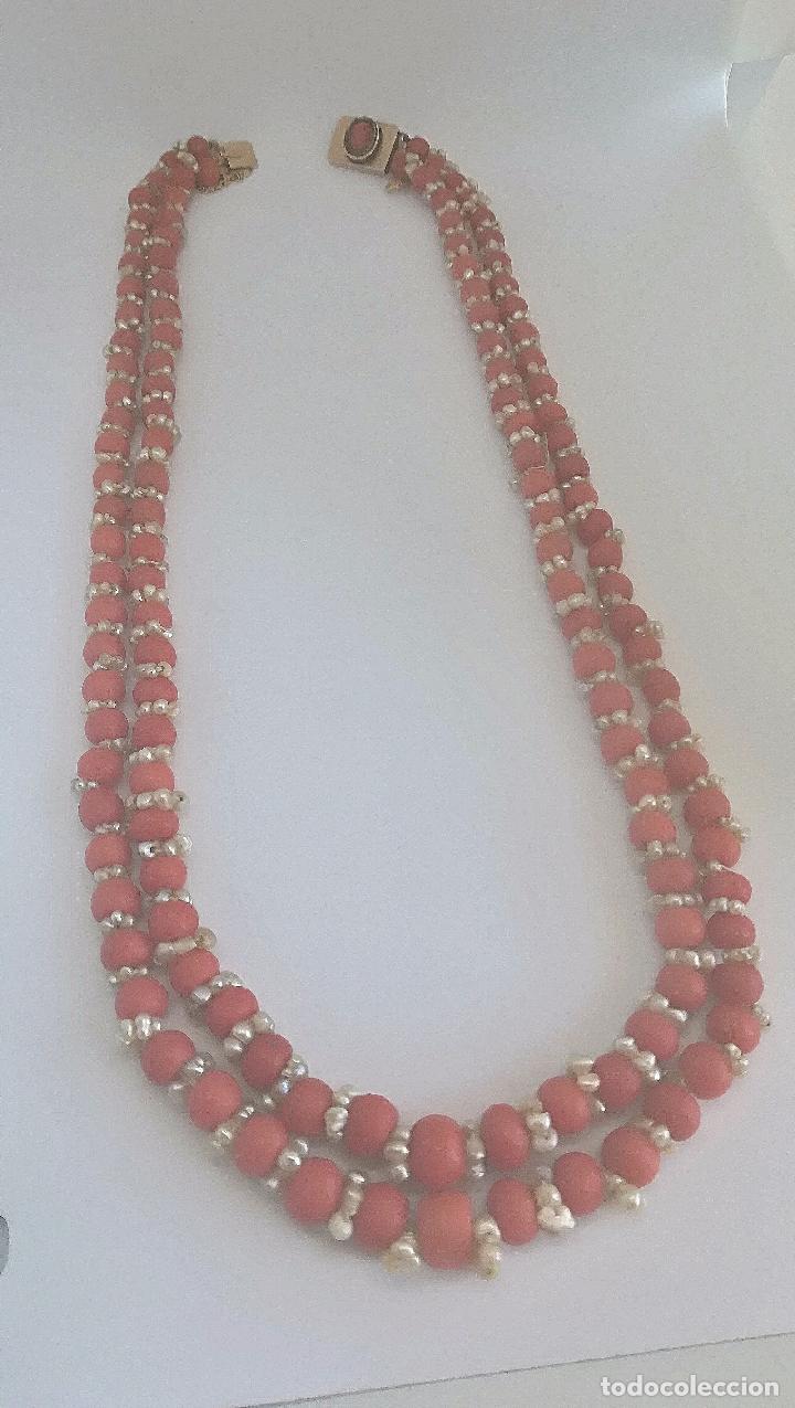 Joyeria: Antiguo collar de coral y perlas naturales - Foto 3 - 51356161