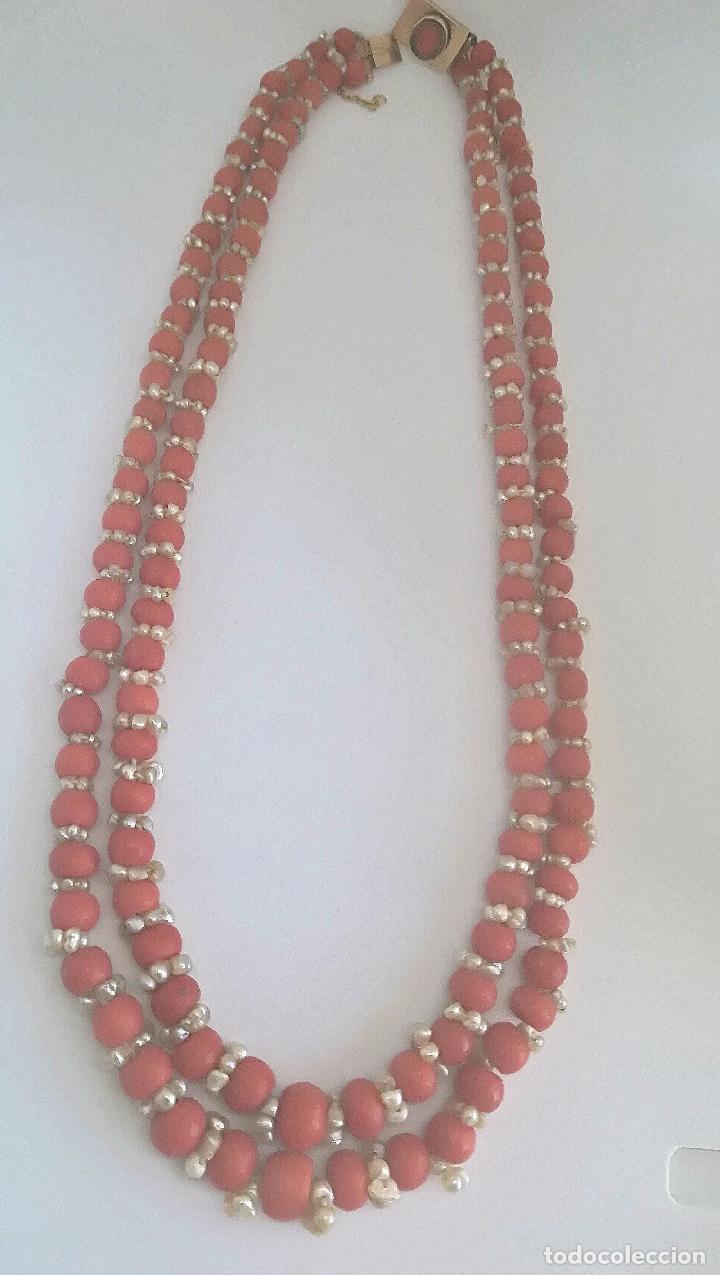 Joyeria: Antiguo collar de coral y perlas naturales - Foto 4 - 51356161