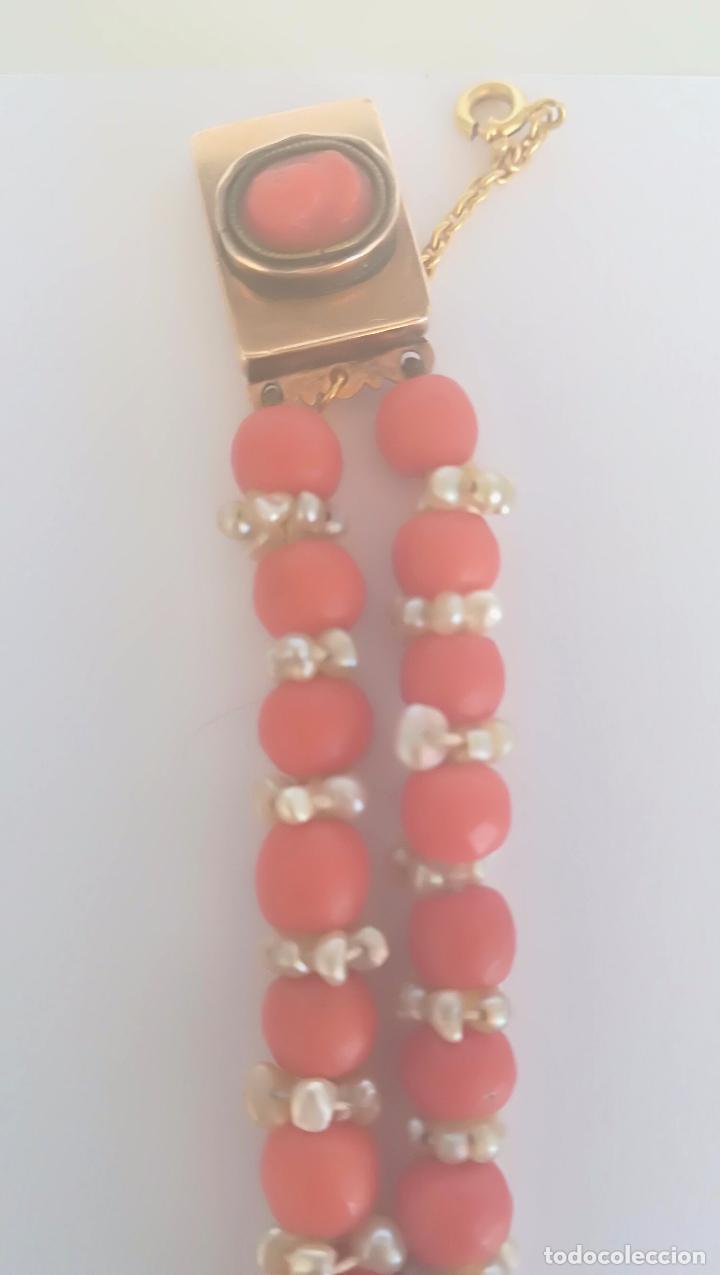 Joyeria: Antiguo collar de coral y perlas naturales - Foto 7 - 51356161