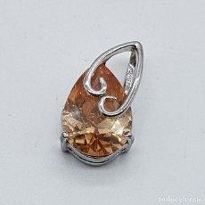 Jewelry - Bello colgante estilo modernista en plata de ley con topacio talla pera . - 99831735