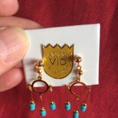 Joyeria - Pendientes preciosos chapados en Oro - 99936527
