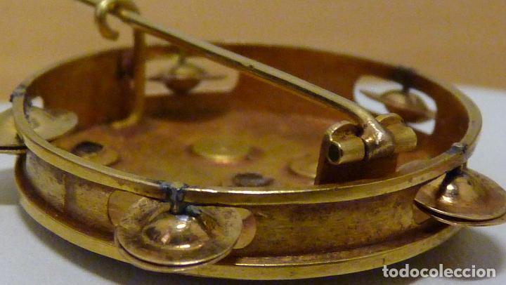 Joyeria: ANTIGUO BROCHE CON DIAMANTES Y PERLAS EN ORO DE 750MM. ca. 1900 - Foto 7 - 81579340
