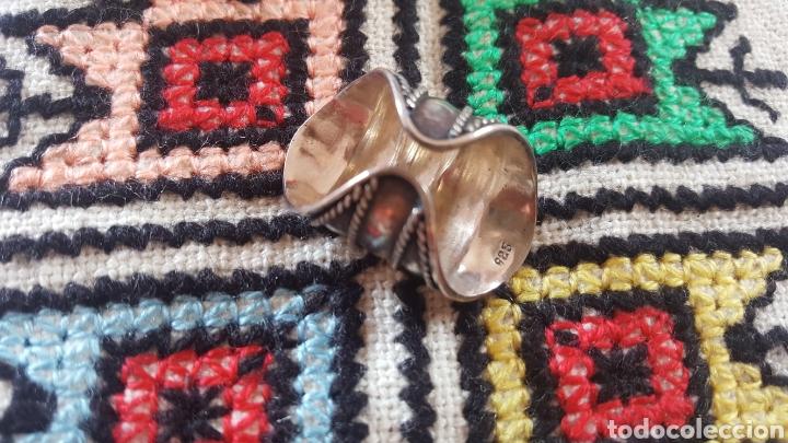 Joyeria: Anillo de plata adaptable con ornamentos geométricos - Foto 2 - 100132606