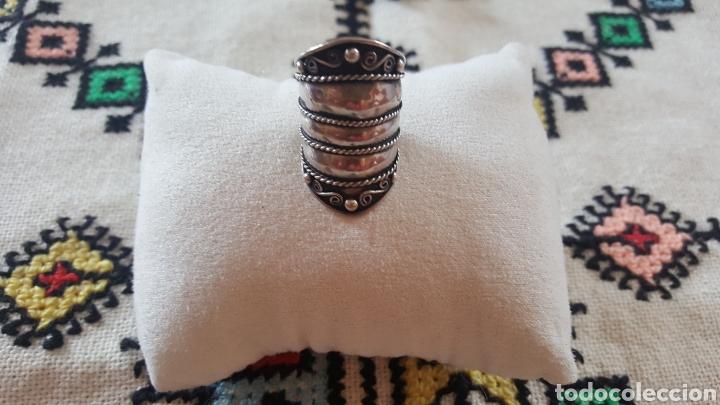 Joyeria: Anillo de plata adaptable con ornamentos geométricos - Foto 3 - 100132606