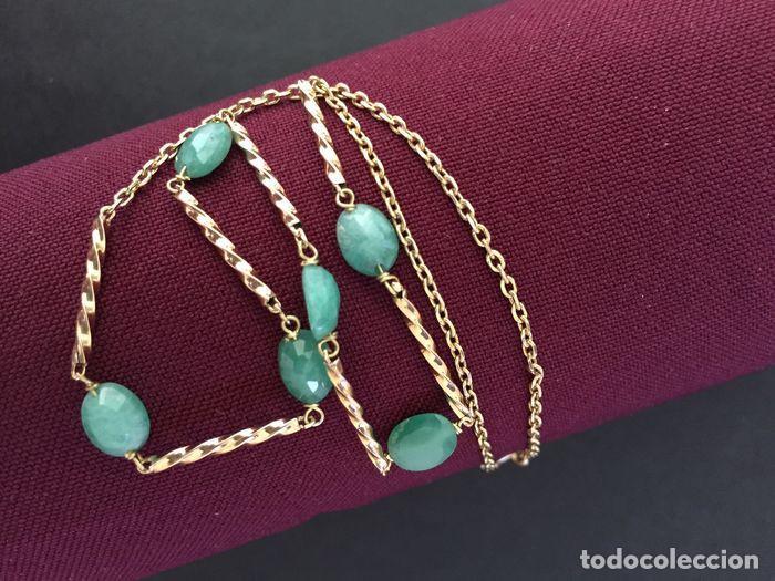 Joyeria: collar de oro 18kt y esmeraldas. - Foto 4 - 100423015