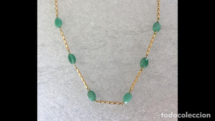 Joyeria: collar de oro 18kt y esmeraldas. - Foto 8 - 100423015