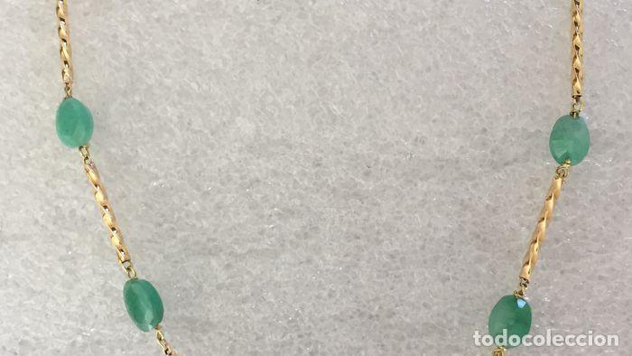 Joyeria: collar de oro 18kt y esmeraldas. - Foto 6 - 100423015