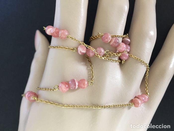 Joyeria: collar de oro de 18Kt y Rodocrositas. - Foto 7 - 100423535