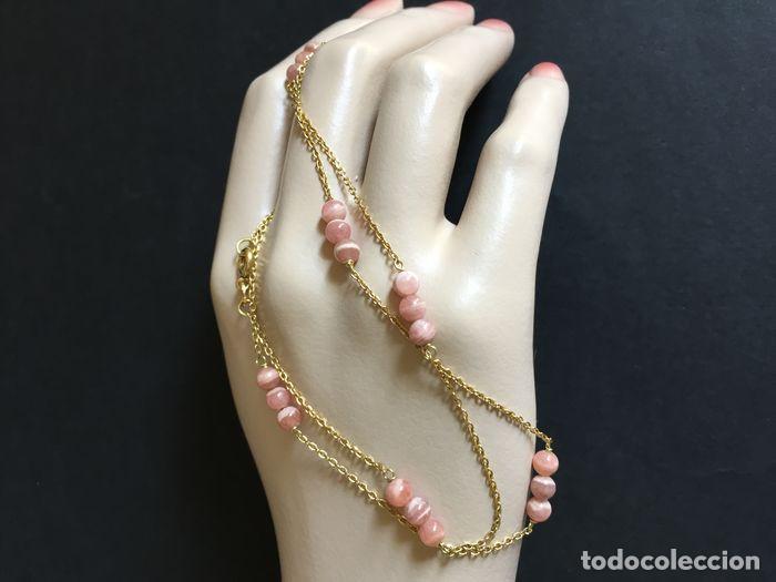 Joyeria: collar de oro de 18Kt y Rodocrositas. - Foto 8 - 100423535