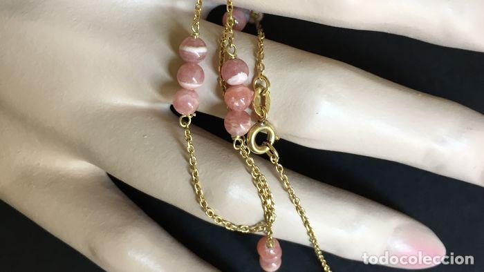 Joyeria: collar de oro de 18Kt y Rodocrositas. - Foto 9 - 100423535