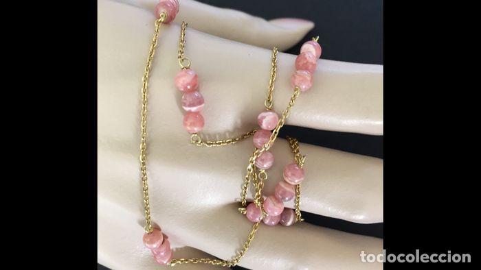 Joyeria: collar de oro de 18Kt y Rodocrositas. - Foto 11 - 100423535