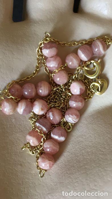 Joyeria: collar de oro de 18Kt y Rodocrositas. - Foto 12 - 100423535