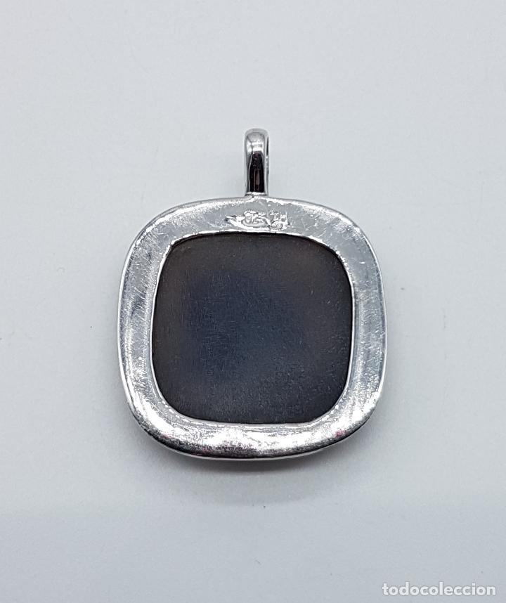 Joyeria: Bello colgante tipo vintage en plata de ley contrastada con cabujón de piedra marrón facetada . - Foto 6 - 100471819