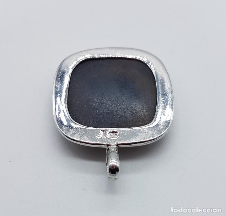 Joyeria: Bello colgante tipo vintage en plata de ley contrastada con cabujón de piedra marrón facetada . - Foto 7 - 100471819
