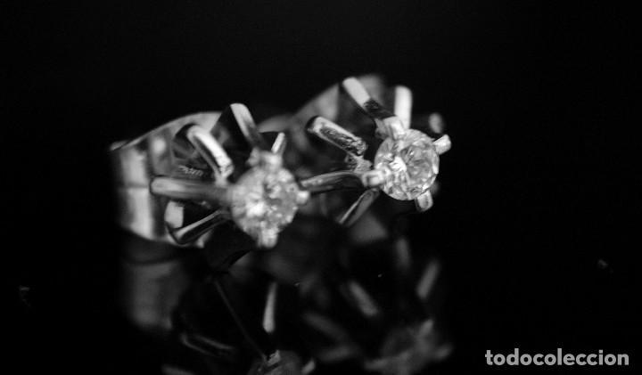 Joyeria: LIQUIDACIÓN, pendientes Dormilonas de diamantes 0,20ct VS-G en oro blanco 18K - Foto 3 - 100731499