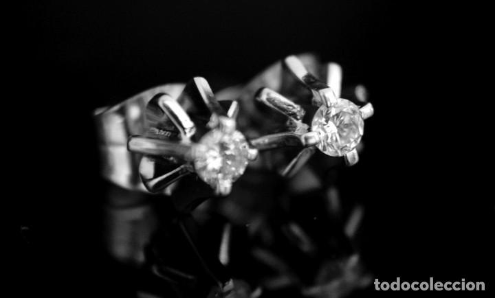 Joyeria: LIQUIDACIÓN, pendientes Dormilonas de diamantes 0,20ct VS-G en oro blanco 18K - Foto 4 - 100731499