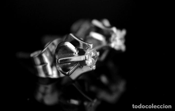 Joyeria: LIQUIDACIÓN, pendientes Dormilonas de diamantes 0,20ct VS-G en oro blanco 18K - Foto 5 - 100731499