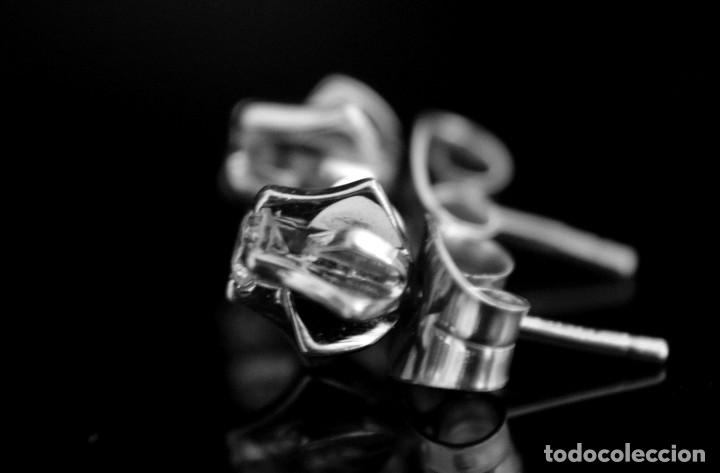 Joyeria: LIQUIDACIÓN, pendientes Dormilonas de diamantes 0,20ct VS-G en oro blanco 18K - Foto 10 - 100731499