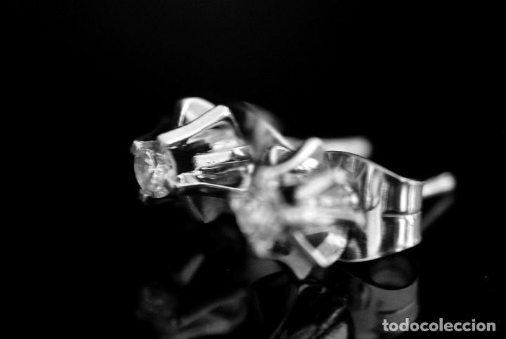 Joyeria: LIQUIDACIÓN, pendientes Dormilonas de diamantes 0,20ct VS-G en oro blanco 18K - Foto 11 - 100731499