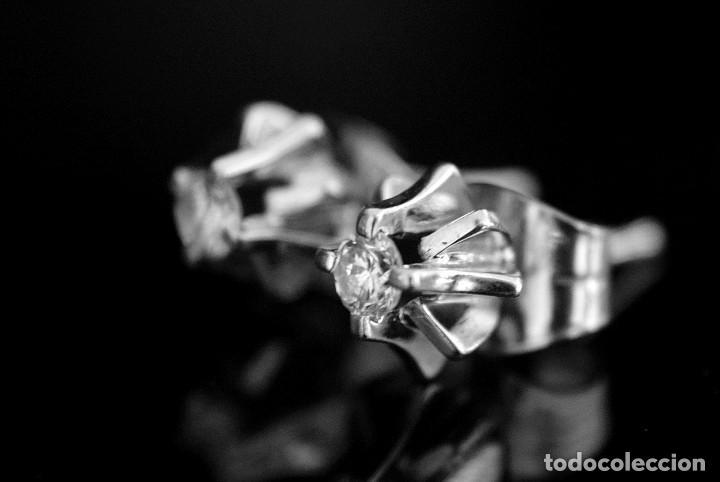 Joyeria: LIQUIDACIÓN, pendientes Dormilonas de diamantes 0,20ct VS-G en oro blanco 18K - Foto 12 - 100731499
