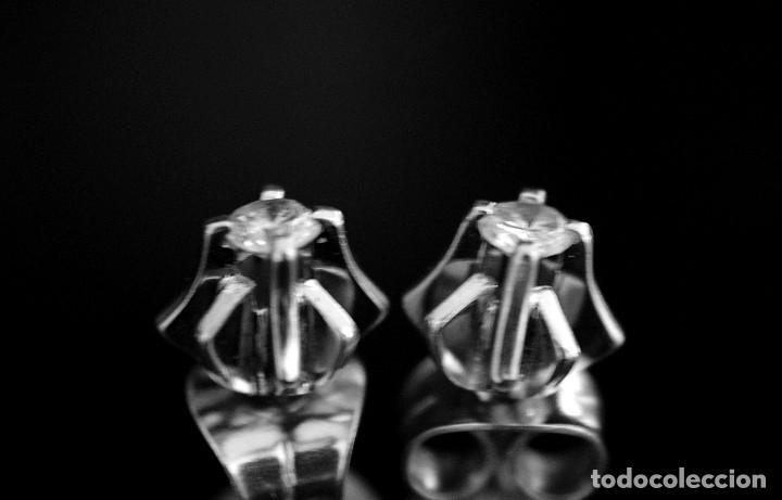 Joyeria: LIQUIDACIÓN, pendientes Dormilonas de diamantes 0,20ct VS-G en oro blanco 18K - Foto 13 - 100731499